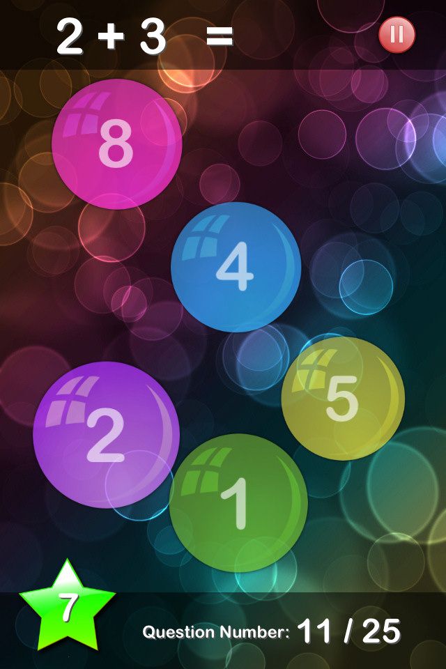 Bubble Maths Free - screenshot 1