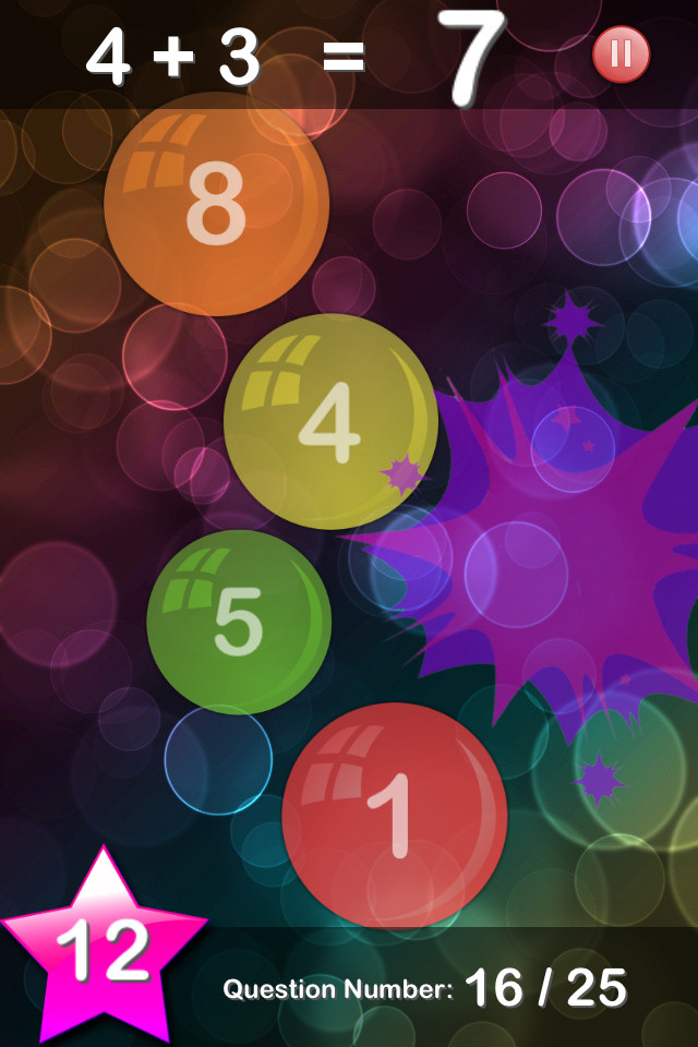 Bubble Maths Free - screenshot 2