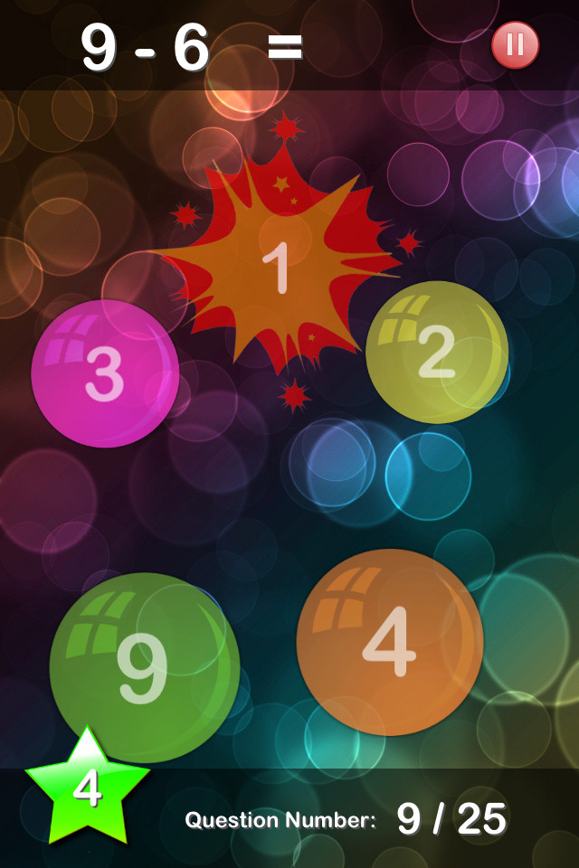 Bubble Maths Free - screenshot 3