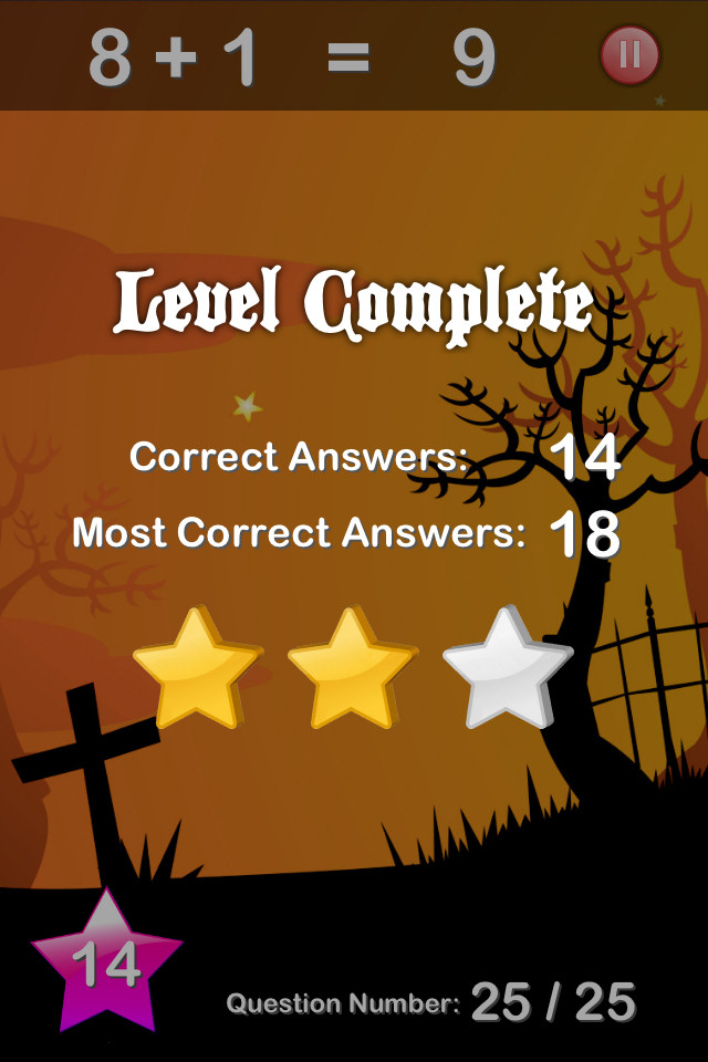 Halloween Maths Free - screenshot 4